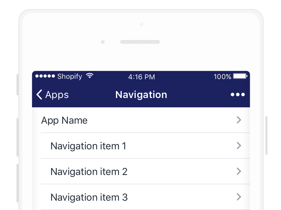 Navigation on mobile natively