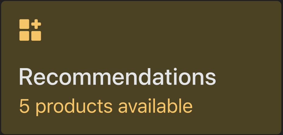 Recommendations Preview