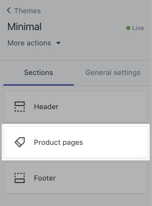 Product pages tab